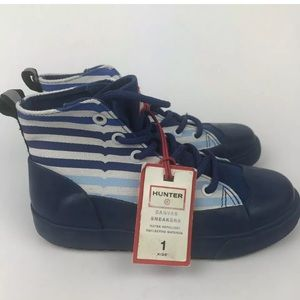 Hunter for Target Kids Dipped Canvas Sneakers Sz 1